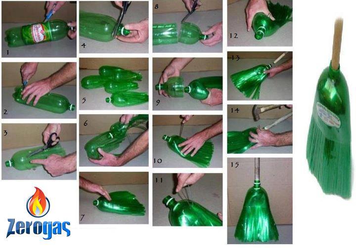 Bricolage Con Bottiglie Di Plastica.La Scopa Dalla Bottiglia Di Plastica