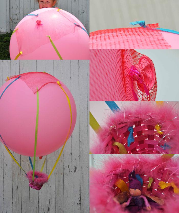 La mongolfiera fai da te for What can you make with balloons