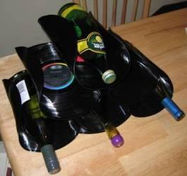 Porta bottiglie in vinile - Porta dischi vinile ...