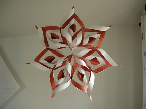 Origami la stella di natale eco idee - Decorazioni natale di carta ...